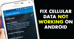 Cómo arreglar los datos celulares que no funcionan en el Androide