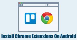 Cómo instalar extensiones de cromo en Android