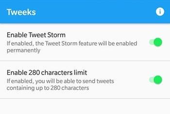 Cómo activar la función Tweet Storm