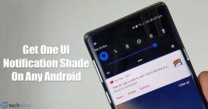 Cómo obtener la sombra de la notificación de la UI de Samsung en cualquier androide