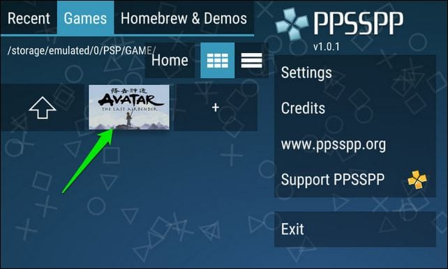 PPSSPP en Android