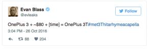 OnePlus 3T podría costar hasta 80 dólares más