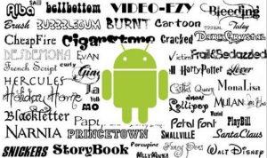 Cómo usar su propia letra como fuente del sistema en Android