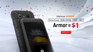 Lotería Ulefone: apuesta $1, gana en IP68 Ulefone Armor